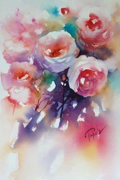Akvarellkurs med Jean-Claude Papeix, Frankrike