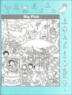 Hidden Pictures Classics: Flying Fish Details - Rainbow Resource Center, Inc. Hidden Object Puzzles, Hidden Picture Puzzles, Colouring Pages, Coloring Books, Hidden Pictures Printables, Find The Hidden Objects, Hello Teacher, Rainbow Resource, Activity Sheets