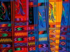 Bright Textile, Ixcel Textile Co-op, San Antonio Aguas Calientes, Guatemala Lámina fotográfica