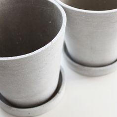 cement pots via http://hay.dk/ @Sarah Chintomby Chintomby Hand Made Mafia  @Marta Draper Craska Tenedios