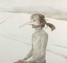 Andrew Wyeth Winter Carnival. 1985, drybrush, watercolor, gouache and pencil on paper, 56.5 x 61 cm