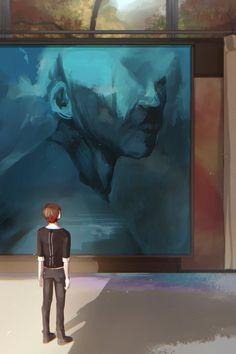 Detroit Become Human Connor, Aesthetic Art, Kiyo, Anime, Painting, Games, Twitter, Painting Art, Cartoon Movies