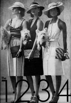 Vogue Editorial May 1974 - Anne Holbrook, Charly Stember, Barbara Minty, Beverly Johnson by Oliviero Toscani