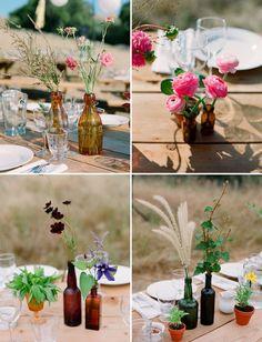 : wedding help Wildflowers In Bottles Tent Wedding, Diy Wedding, Rustic Wedding, Wedding Flowers, Wedding Ideas, Wedding Stuff, Wedding Inspiration, Mauve Wedding, Luau Wedding