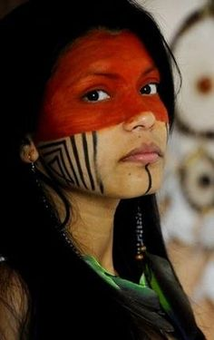 Respect our native people. Ethno Tattoo, Native American Beauty, Tribal Women, Many Faces, Native Indian, Tribal Art, World Cultures, People Around The World, American Indians