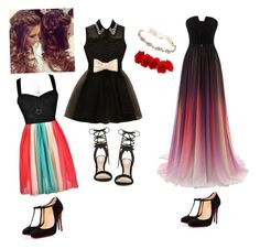 """""""Color splash"""" by belu7c on Polyvore featuring beauty, Christian Louboutin, ALDO, Marchesa and Aéropostale"""