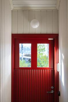 Entrance, Cottage, Cabin, Windows, Doors, Red, House, Gardening, Furniture
