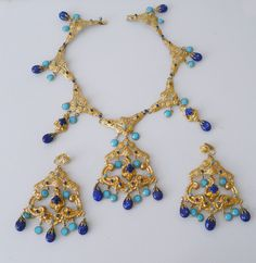 Kenneth Lane 1960s Necklace & Earrings