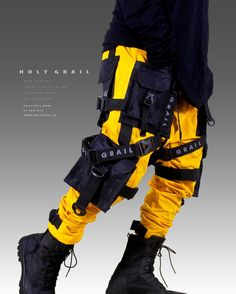 PANTS – HOLYGRAIL OFFICIAL Cyberpunk Clothes, Cyberpunk Fashion, Tactical Wear, Future Fashion, Mens Fashion, Fashion Outfits, Character Outfits, Character Design Inspiration, Swagg