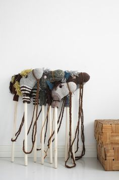 Upcycle old socks into horses