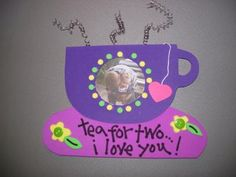 Tea for Two Foam Picture Frame: Framed photos make a great gift for Mother's Day and here's two foam picture frames that even kids can help make. Stick on a special photo, glue a magnet