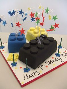 Lego cake (lots of first birthdays coming up...)