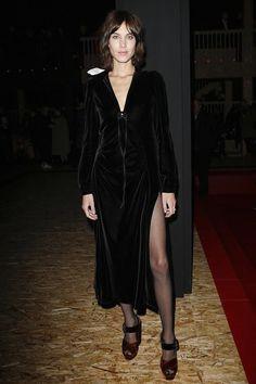 Alexa Chung - Prada show @ Milan Fashion Week. (25 February 2016)