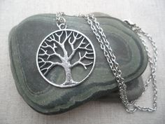 Silver Tree Necklace Tree of Life Silver by TigerFlowerJewelry, $12.00