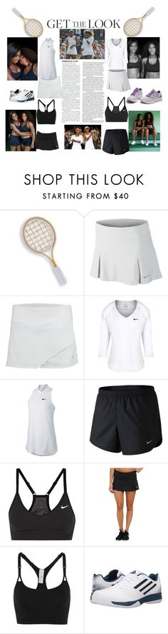 """""""Sports Stars-Venus and Serena Williams"""" by babe-b8 ❤ liked on Polyvore featuring Marco Bicego, NIKE, adidas, GetTheLook and celebritysiblings"""