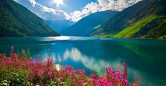 Lake South Tyrol (Italy) In full Alps with the arrival of spring the n Alessandra Beautiful World, Beautiful Places, Beautiful Pictures, Amazing Places, South Tyrol, Spring Photos, All Nature, Flowers Nature, Rocky Mountains
