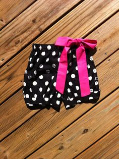 Girls Bubble shorts Fabric bow & tie detail by EverythingSorella, $28.50