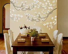 STENCIL - DOGWOOD Branch - Large, Reusable Wall Stencil - DIY Home Decor. $39.95, via Etsy.
