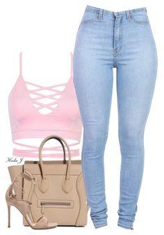 """""""♡.♡"""" by justice-ellis ❤ liked on Polyvore featuring Gianvito Rossi"""
