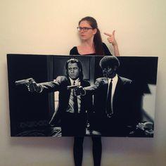 Pulp Fiction (tempery na plátně 140x80 cm, 2017)