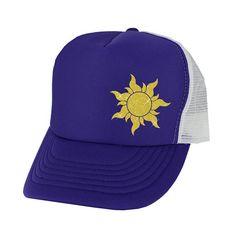 15b6722d29f Rapunzel Trucker Hat Sun - yellow glitter - purple white hat snap back  trucker hat Yellow