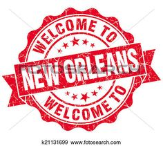 6c079ddcbbdb0 Stock Illustration - welcome to New Orleans red vintage isolated seal.  Fotosearch - Search Vector