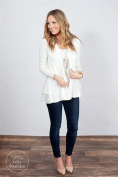 Lightweight, elegant, and perfect for a soft, dressy look for a night on the town. This lace trim cardigan is the perfect everyday go to cardigan to throw on to give your outfit extra pop and style! Dress it up with your favorite basic or screen print tee and you've got yourself the perfect outfit that is sure to turn lots of heads. The soft, sheer material is comfortable and one that you won't want to take off! It's a must have in your wardrobe! SIZES  Small 0-4Medium 4-6Large 8-1...