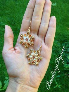 TUTORIAL   Orecchino/Modulo Manuela   DIY bead Earrings