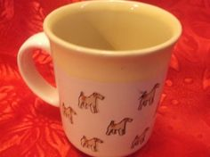 Kiln CraftStoneware  Mug Cup Dog Terrier Colored Inside England  10 oz #KilnCraft