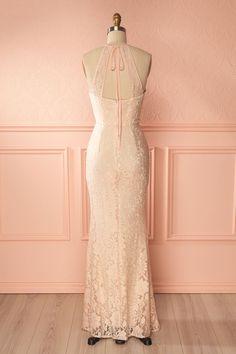 Tiamara Pale Pink Lace Mermaid Bridal Gown | Boudoir 1861