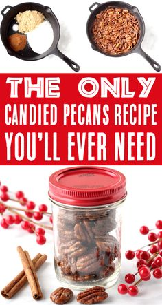 Nut Recipes, Candy Recipes, Holiday Recipes, Snack Recipes, Dessert Recipes, Cooking Recipes, Holiday Snacks, Holiday Gifts, Skillet Recipes