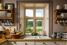 Luxury self-catering cottage near Cheltenham in the Cotswolds Pantry Laundry Room, Small Cottages, White Cottage, Cozy Cottage, Cottage Homes, Cottage Kitchens, Home Kitchens, Cottage Interiors, Cotswold Cottage Interior