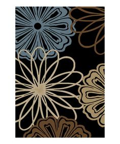 Take a look at this Black & Blue Van Gogh Mandly Rug by Infinity Home Source on #zulily today!