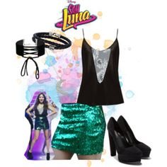 Designer Clothes, Shoes & Bags for Women Disney Channel, Luna Fashion, Ariana Grande Outfits, Disney Outfits, Polyvore, Shopping, Collection, Dresses, Design