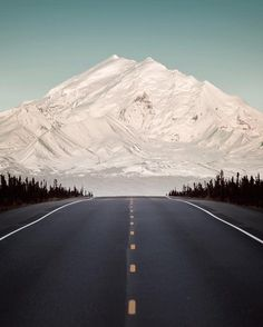 The road to the mountain - Mount Drum, Alaska. Photo by Benjamin Everett Beautiful Roads, Beautiful Landscapes, Beautiful Places, Beautiful Moments, Landscape Photos, Landscape Photography, Amazing Photography, Photography Ideas, Voyager Loin