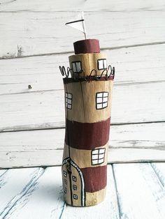 Deko-Objekte - Maritime Deko Leuchtturm Treibholz - ein Designerstück von melkey bei DaWanda