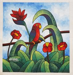 Tigger, Parrot, Disney Characters, Fictional Characters, Mosaic, Painting, Parrot Bird, Mosaics, Painting Art