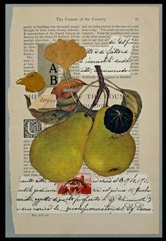 Mixed Media Collages by Stephen Magsig I'd put a was over it to soften. Very nice