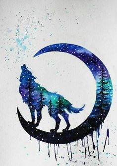 wolf zeichnung 75 bildideen - New Sites Cute Animal Drawings, Cool Drawings, Tattoo Drawings, Wolf Artwork, Wolf Painting, Wolf Wallpaper, Wolf Pictures, Wolf Tattoos, Anime Tattoos