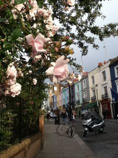 """Notting Hill.    Lovely place. Always remind me the movie.     """"I'm just a girl, standing in front of a boy, asking him to love her.""""   - Anna Scott  #london #nottinghill JWProperBritish EnglishRose"""