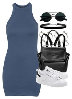 """""""Style #10132"""" by vany-alvarado ❤ liked on Polyvore featuring Topshop, ASOS, Givenchy and adidas Originals"""