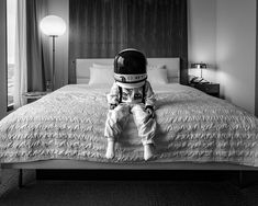 Little Astronaut Discovers Our World in Touching Father/Son Photo Project How do astronauts sleep in space_ Father Son Photos, Father And Son, Astronaut Drawing, Sugarhigh Lovestoned, Astronaut Helmet, Psy Art, Photo Projects, Outer Space, Black And White Photography
