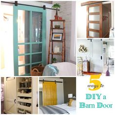 Love barn doors, but worry they are too expensive? Check out these tutorials for less-expensive ways to get this stylish design feature at InfarrantlyCreative.net