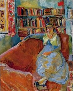 Virginia Woolf at Charleston, painted by her sister Vanessa Bell