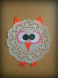 Tortacsipke bagoly, paper doily owl
