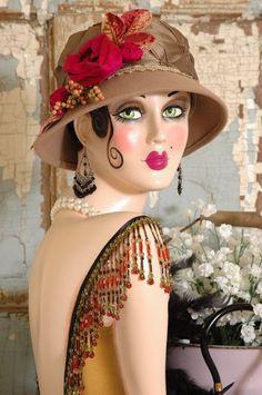 Vintage Style ART DECO Flapper MANNEQUIN