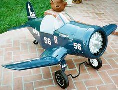 F4U-1 CORSAIR JR. Maybe coolest ever pedal car