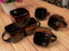 Gifts & Mugs Dark Coffee Color with Glossy Finished & Flow Design, Square Shape, Premium Tea Cups, Set of 6 Material: Ceramic Pack: Multipack Length: 2.5 Inch Breadth: 2.5 Inch Height: 2.5 Inch Size (in ltrs): 175 ml Country of Origin: India Sizes Available: Free Size *Proof of Safe Delivery! Click to know on Safety Standards of Delivery Partners- https://ltl.sh/y_nZrAV3  Catalog Rating: ★4.1 (1074)  Catalog Name: Free Gift Stylo Cups, Mugs & Saucers CatalogID_1246754 C127-SC1268 Code: 244-7673759-999