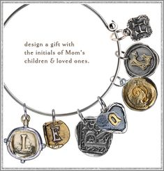 Cute bracelet charms from Waxing Poetic www.morethanwords.com Perfect for Valentine's Day