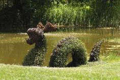 My son really loves the Loch Ness Monster. While trolling the internet for images of his favorite magical creature we came upon this . Topiary Garden, Garden Art, Garden Tools, Landscaping Equipment, Landscaping Tools, Dinosaur Garden, Girl Cave, Pond Plants, Professional Landscaping